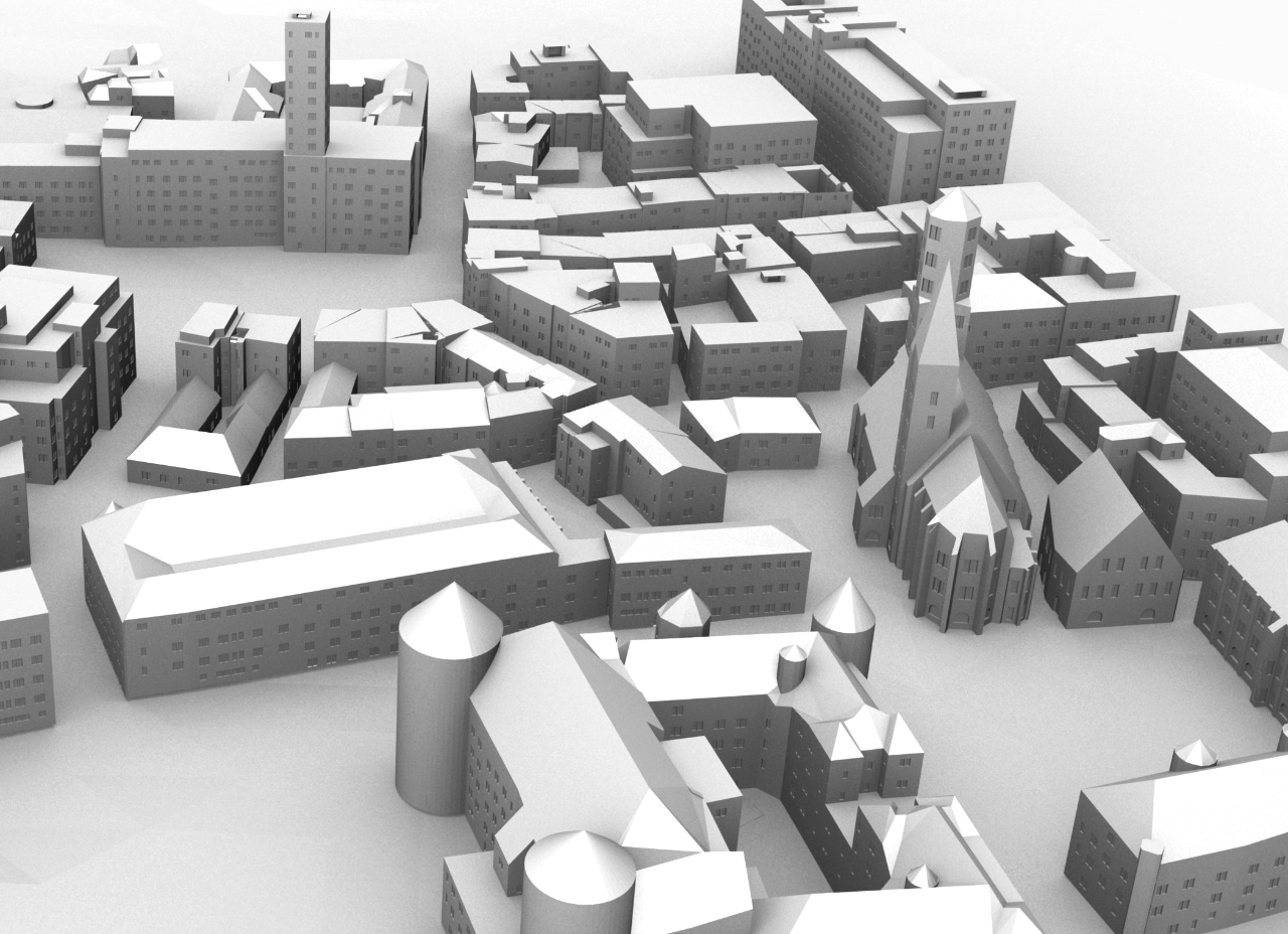 Grammar-based 3D city model of Stuttgart.